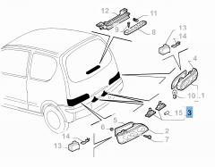 Kennzeichenleuchte für Fiat und Fiat Professional