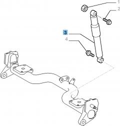 Stoßdämpfer hinten für Fiat Professional Doblo