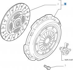 Kupplungssatz (Kupplungsscheibe und -druckplatte) für Alfa Romeo