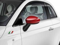 Spiegelkappen, Rot glänzend für Fiat 500