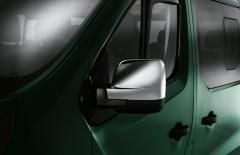 Verchromte Kappen für Transporterspiegel für Fiat Professional Talento