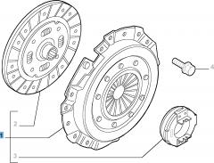Kupplungssatz (Kupplungsscheibe, -druckplatte und Ausrücklager) für Lancia Ypsilon