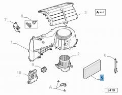 Innenraumluftfilter mit Aktivkohle
