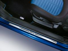 Einstiegsleiste aus Stahl mit Logo-Print für Fiat