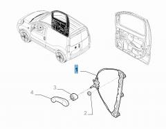Elektrischer Fensterheber vorne rechts für Fiat und Fiat Professional