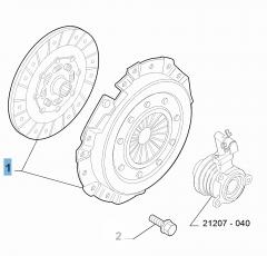 Kupplungssatz (Kupplungsscheibe und -druckplatte) für Abarth 500