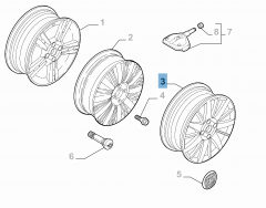 "Leichtmetallfelge 6.5J x 17"" ET 41 für Fiat Linea"