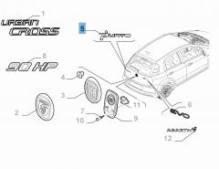Schriftzug Modell Punto für Fiat
