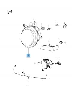 Scheinwerfer für Jeep Compass/Patriot