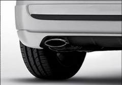 Auspuffendrohr, verchromter Stahl für Fiat 500