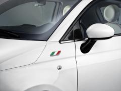 Sticker der italienischen Flagge für den vorderen Kotflügeln des Fiat 500