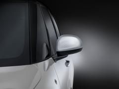 Set silberne Seitenspiegelkappen mit profiliertem Technics-Effekt