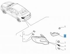 Rückleuchte links (beweglich) für Fiat und Fiat Professional