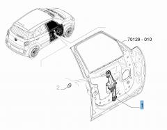 Fensterheber vorne links für Fiat 500L