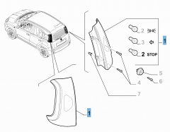 Rückleuchte rechts (fest) für Fiat und Fiat Professional