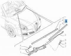 Set mit 2 Wischerblättern für die Frontscheibe für Alfa Romeo Giulietta