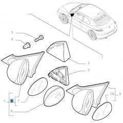 Rechter elektrischer Außenspiegel für Alfa Romeo GT
