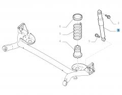 Stoßdämpfer hinten für Fiat 500