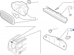Rückleuchte (drittes Bremslicht) für Fiat Professional Scudo