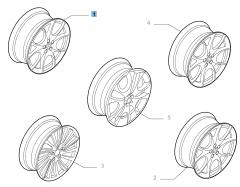 Leichtmetallfelge 7J x 17'' ET 40.5 für Alfa Romeo 147