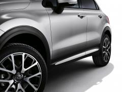Weiße Seitenabschlüsse für Türen für Fiat 500X