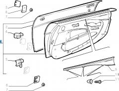 Komplette linke Seitentür für Fiat Barchetta (1995-2004)
