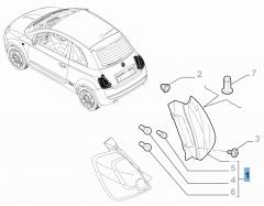 Rückleuchte rechts (fest) für Fiat 500