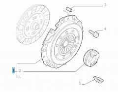 Kupplungssatz (Kupplungsdruckplatte und Ausrücklager) für Fiat Professional Ducato
