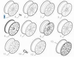 Leichtmetallfelge 6.5J x 16'' H2 ET 35 für Abarth 500