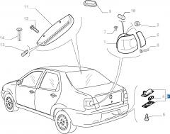 Kennzeichenleuchte für Fiat