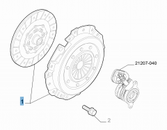 Kupplungssatz (Kupplungsscheibe und -druckplatte) für Fiat und Fiat Professional