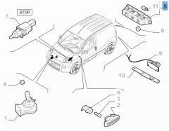 Rückleuchte (drittes Bremslicht) für Fiat und Fiat Professional