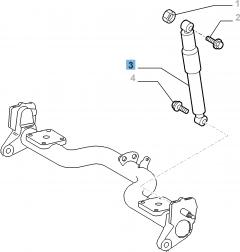 Stoßdämpfer hinten für Fiat Doblo