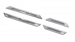 Einstiegsleiste aus Stahl mit Logo-Print für Fiat 500X