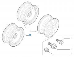 Stahlfelge 7J x 16'' für Fiat Professional Scudo