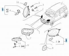 Scheinwerfer vorne rechts für Fiat und Fiat Professional