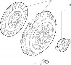 Kupplungssatz (Kupplungsscheibe, -druckplatte und Ausrücklager)