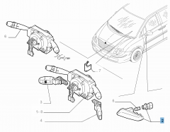 Seitlicher Fahrtrichtungsanzeiger am rechten Außenspiegel
