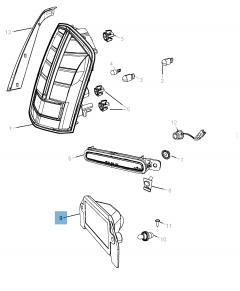 Kennzeichenleuchte für Lancia Thema