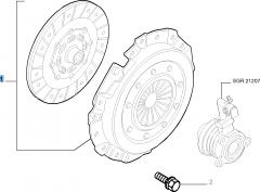 Kupplungssatz (Kupplungsscheibe und -druckplatte) für Fiat Stilo
