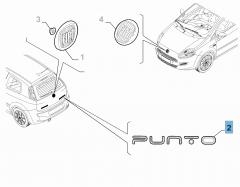 Schriftzug Modell Punto hinten für Fiat