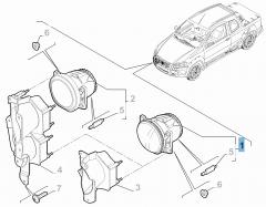 Nebelscheinwerfer für Fiat und Fiat Professional