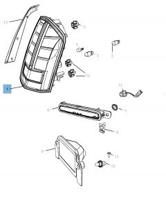Lampentr/äger f/ür Hecklicht R/ückleuchte TRANSIT Ersatzteile kompatibel mit 2000-2006 MK6