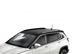 Verchromte Längsstreben für das Autodach für Jeep Compass