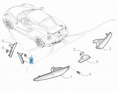 Seitlicher Fahrtrichtungsanzeiger hinten links für Alfa Romeo 4C