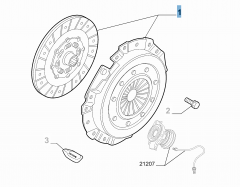 Kupplungssatz (Kupplungsscheibe und -druckplatte) für Alfa Romeo 159