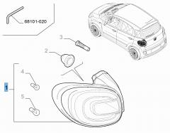 Rückleuchte rechts (fest) für Fiat 500L