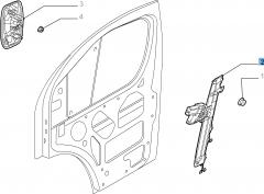 Elektrischer Fensterheber vorne links für Fiat Professional Ducato