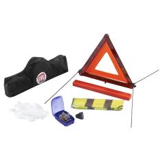 Notfall-Set mit Warndreieck und reflektierender Warnweste für Fiat 500