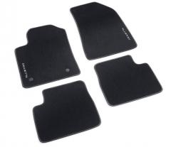 Velours-Fußmatten mit silberner Stickerei, Linkslenkung